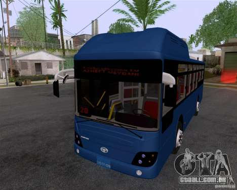 Daewoo Bus BAKU para GTA San Andreas traseira esquerda vista