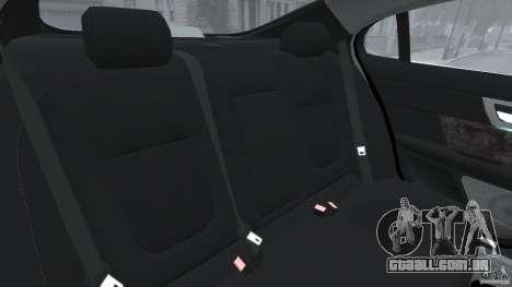 Jaguar XFR 2010 v2.0 para GTA 4 vista lateral