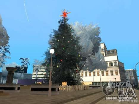 Véspera de ano novo no Grove Street para GTA San Andreas oitavo tela