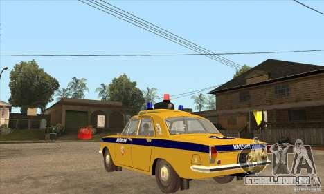 GAZ Volga 2401 polícia para GTA San Andreas traseira esquerda vista