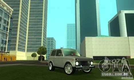 VAZ 21213 NIVA FBI para GTA San Andreas vista traseira