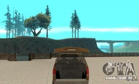 Ford Explorer 2002 para vista lateral GTA San Andreas