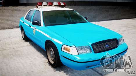 Ford Crown Victoria Classic Blue NYPD Scheme para GTA 4 esquerda vista