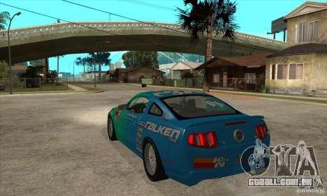 Ford Mustang GT Falken para GTA San Andreas traseira esquerda vista