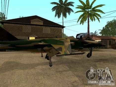 Camuflagem para Hydra para GTA San Andreas esquerda vista
