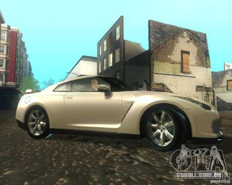 Nissan GTR R35 Spec-V 2010 Stock Wheels para GTA San Andreas vista traseira