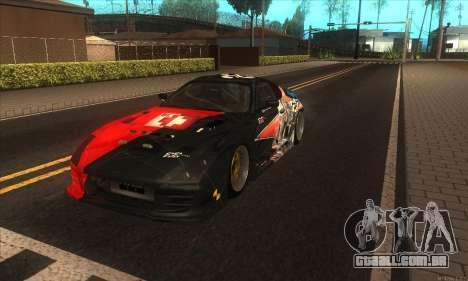 Toyota Supra Evil Empire para GTA San Andreas traseira esquerda vista
