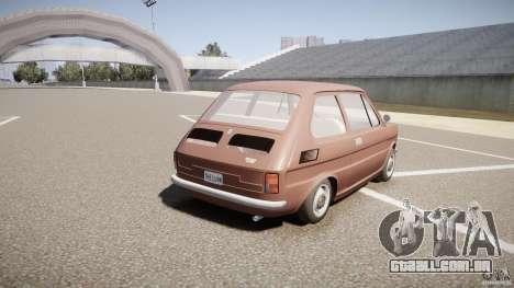 Fiat 126 para GTA 4 vista lateral