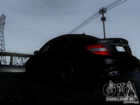 Mercedes-Benz C63 AMG 2010 para GTA San Andreas vista interior