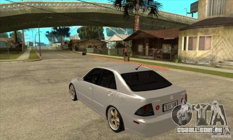 Lexus IS300 Tunable para GTA San Andreas traseira esquerda vista