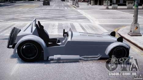 Caterham Super Seven para GTA 4 vista de volta