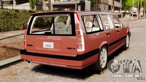 Volvo 850 Wagon 1997 para GTA 4 traseira esquerda vista