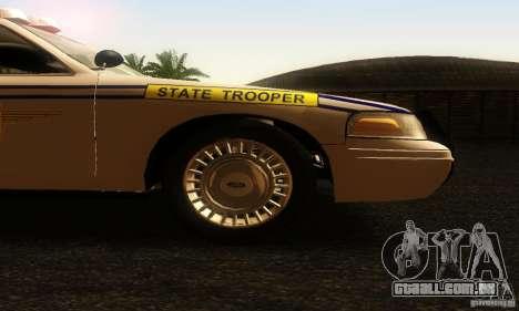 Ford Crown Victoria South Carolina Police para GTA San Andreas vista direita