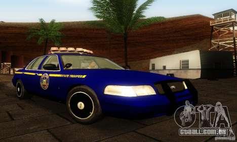 Ford Crown Victoria New York Police para GTA San Andreas