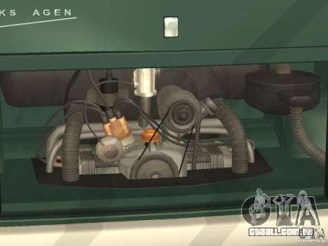 Volkswagen Transporter T1 Camper para GTA San Andreas vista interior