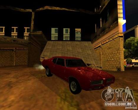 Pontiac GTO 1969 para GTA San Andreas vista direita