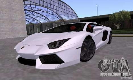 Lamborghini Aventador LP700-4 Final para GTA San Andreas vista interior
