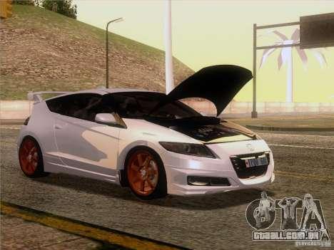 Honda CR-Z Mugen 2011 V2.0 para GTA San Andreas traseira esquerda vista