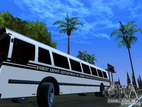 Prison Bus para vista lateral GTA San Andreas