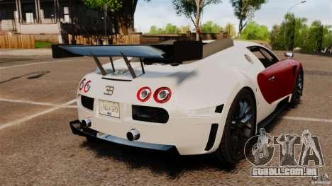 Bugatti Veyron 16.4 Body Kit Final Stock para GTA 4 traseira esquerda vista