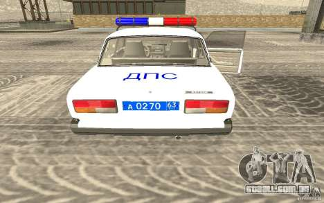 Carro de polícia Vaz 2107 DPS para GTA San Andreas esquerda vista