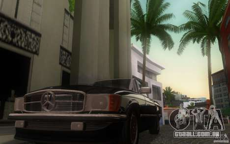 Mercedes-Benz 350 SL Roadster para GTA San Andreas vista interior