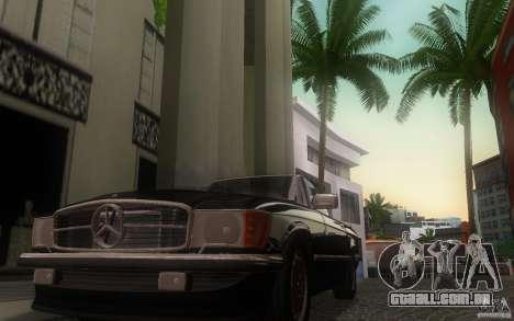 Mercedes-Benz 350 SL Roadster para GTA San Andreas vista interior