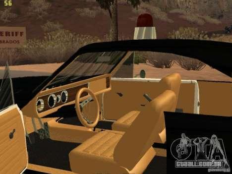 Chevrolet Opala Police para GTA San Andreas vista traseira
