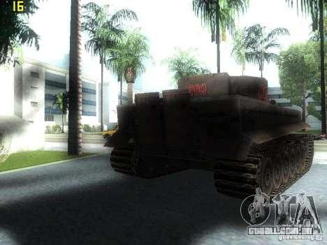 Tiger para GTA San Andreas traseira esquerda vista
