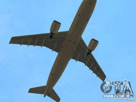 Airbus A300-600 Air France para vista lateral GTA San Andreas
