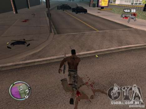 Nova zona GANGSTER para GTA San Andreas décimo tela