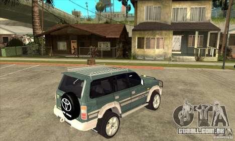 Toyota Land Cruiser 80 para GTA San Andreas vista direita