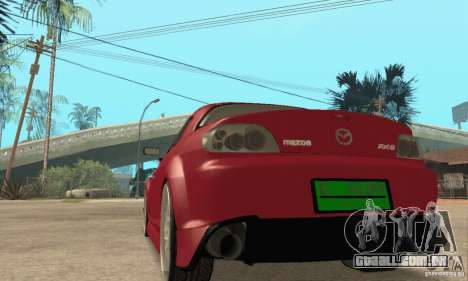 Ligar o motor e os faróis e para GTA San Andreas quinto tela