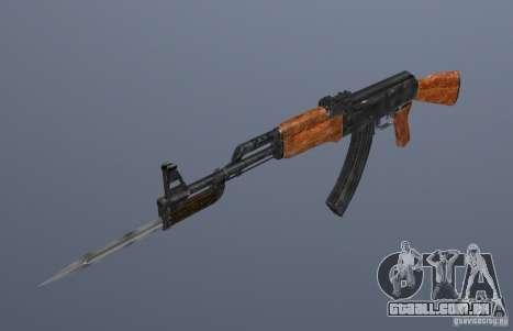 AK 47 com baioneta para GTA San Andreas