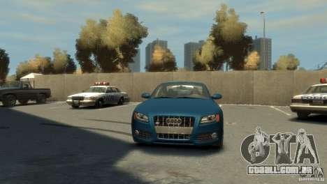 Audi S5 para GTA 4 vista de volta