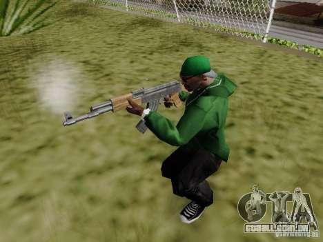 AK-47 de Saints Row 2 para GTA San Andreas por diante tela
