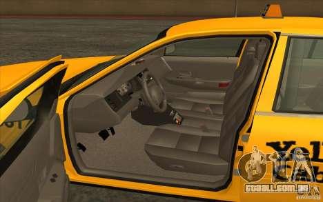 Ford Crown Victoria Taxi 2003 para GTA San Andreas esquerda vista