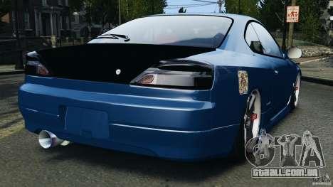 Nissan Silvia S15 JDM para GTA 4 traseira esquerda vista