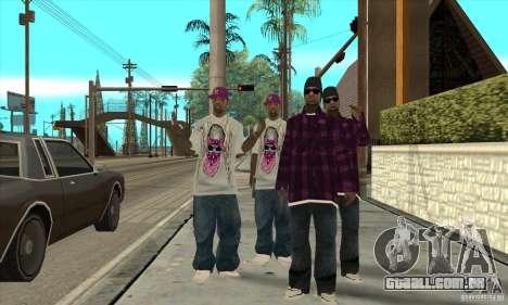 Substituir todos os skins Ballas East Side para GTA San Andreas segunda tela