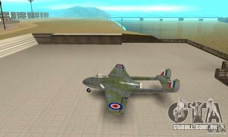 De-Havilland-Vampire ver 2.0 para GTA San Andreas esquerda vista