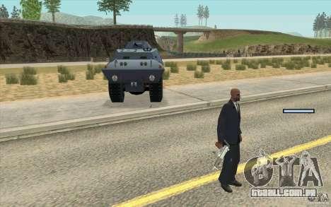 A guarda de BTR para GTA San Andreas segunda tela