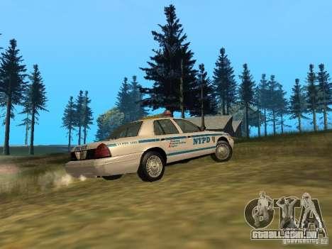 Ford Crown Victoria NYPD Police para GTA San Andreas vista traseira