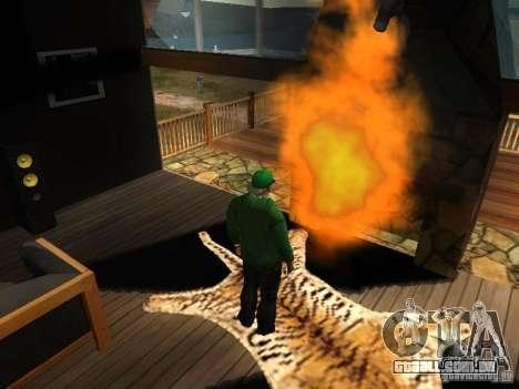Lareira na casa do Toreno para GTA San Andreas