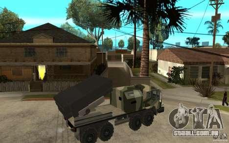 Missile Launcher Truck para GTA San Andreas vista direita