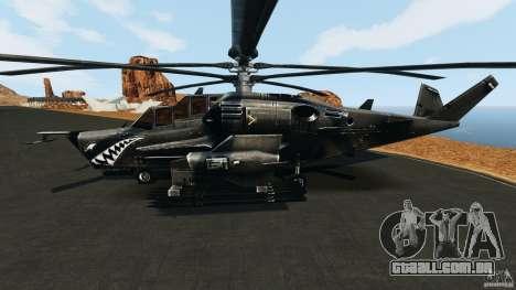 KA-50 Black Shark Modified para GTA 4 esquerda vista