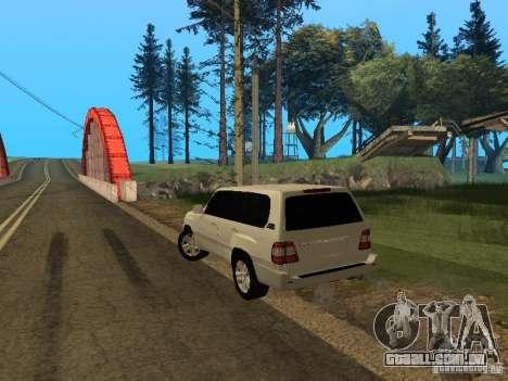 Toyota Land Cruiser 100 VX para GTA San Andreas esquerda vista