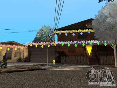 Véspera de ano novo no Grove Street para GTA San Andreas segunda tela