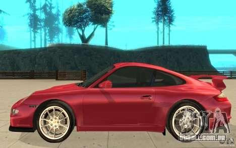 Porsche 911 (997) GT3 v2.0 para GTA San Andreas esquerda vista