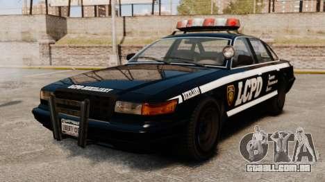 Uma nova viatura policial para GTA 4 vista de volta