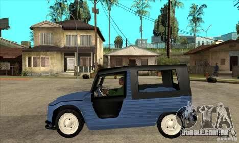 Citroen Mehari para GTA San Andreas esquerda vista